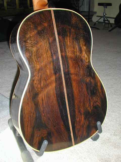 Thompson classical guitar back